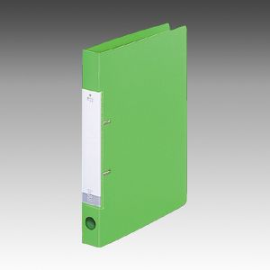 Dリングファイル A4S 2穴 黄緑  G2220-6