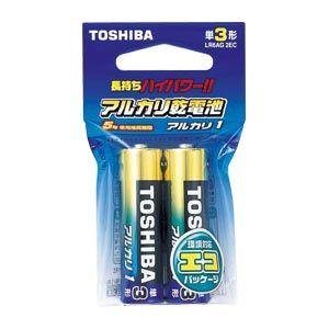東芝 アルカリ電池 単3 (2個入・吊下)   LR6AG2EC