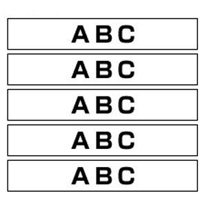 ブラザー ピータッチ用テープカートリッジ 白 黒文字  HGE-251V
