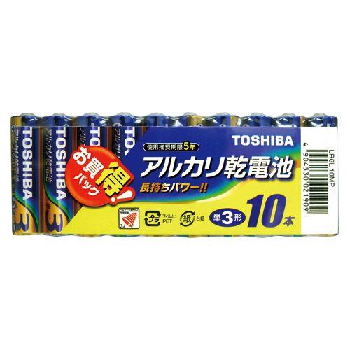 東芝 アルカリ電池 単三10本パック   LR6L10MP