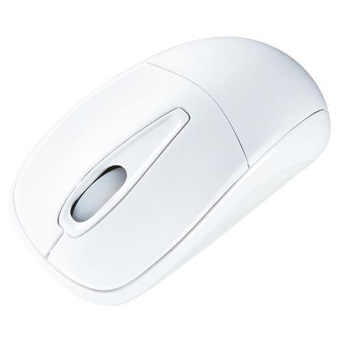 サンワサプライ 静音ワイヤレスマウス ホワイト  MA-WH123W