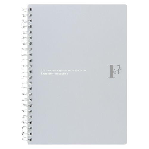 FOB Wリングノート ドット罫 シルバー  PTD03A5SV 5 冊