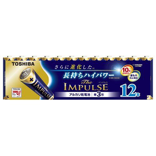 東芝 アルカリ電池ザ・インパルス 単三12本P   LR6HS 12MP