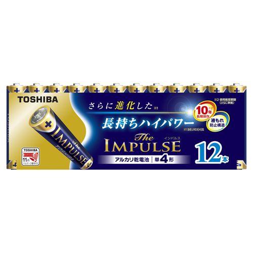 東芝 アルカリ電池ザ・インパルス 単四12本P   LR03HS 12MP