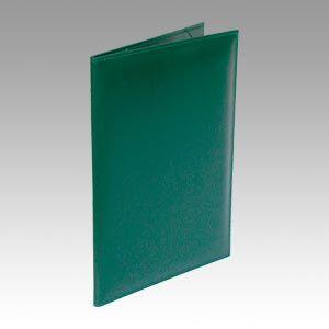 コレクト 調印・証書ホルダーA4判布レザー 緑  F-244-GR