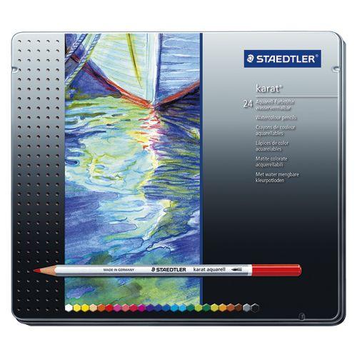 ステッドラー カラトアクェレル125水彩色鉛筆 24色   125 M24