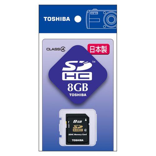 東芝 SDHCメモリカード8GB Class4   SD-F08GTS