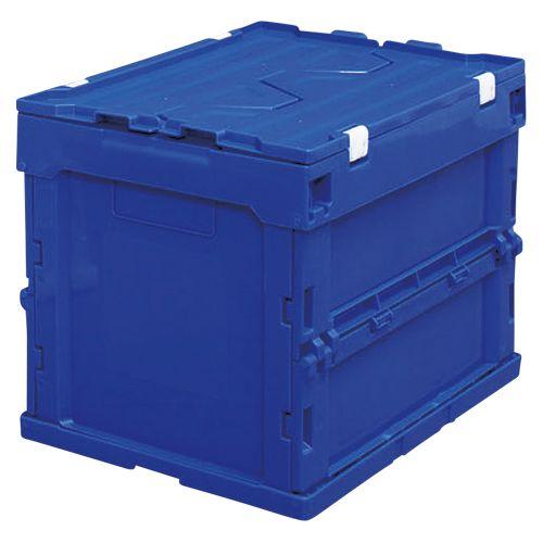 アイリスオーヤマ ハード折りたたみコンテナフタ一体型20L ブルー  HDOH-20L
