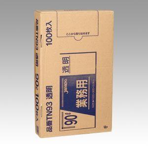 ジャパックス メタロセン配合ポリ袋90L透明 100枚   TN93