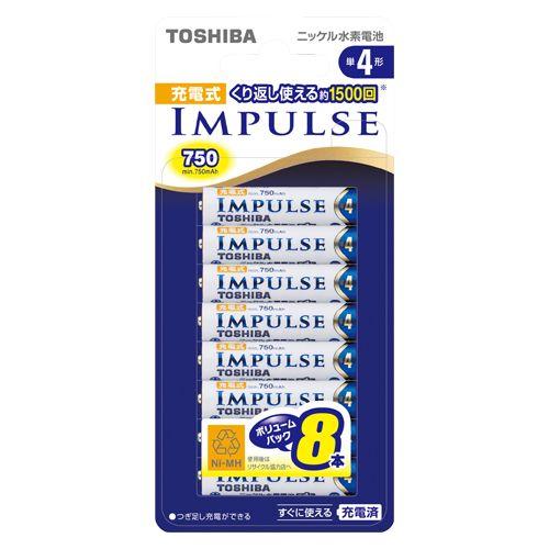 ニッケル水素電池充電インパルス単4形8本 (TNH-4A8P)