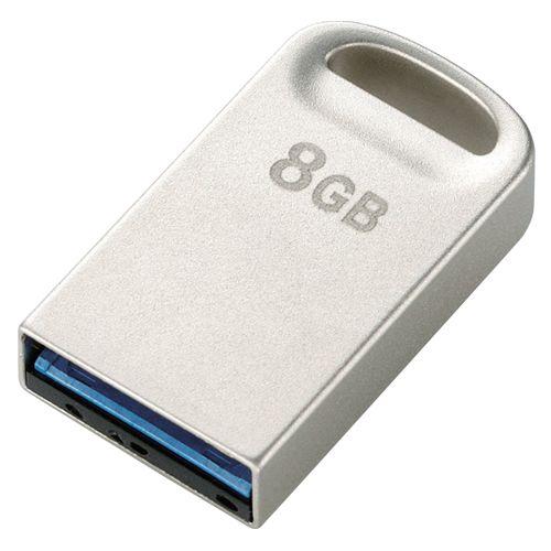 エレコム USBフラッシュ 8GB 超小型USB3   MF-SU308GSV