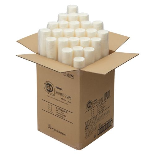 ホワイトカップ 3000個入   C150GAA