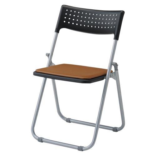 アイリスチトセ スチール折畳み椅子 パット付タイプ ブラウン  SS-S139N-BR