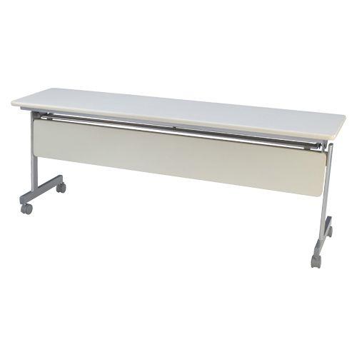 跳上式スタックテーブル 巾1800mm ネオホワイト (KSM1845-NW)