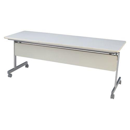 跳上式スタックテーブル 巾1800mm ネオホワイト (KSM1860-NW)