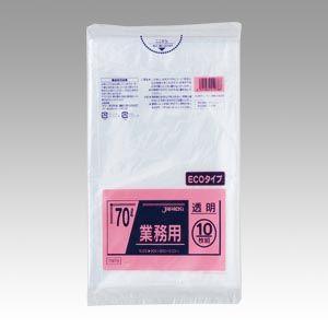 ジャパックス メタロセン配合ポリ袋エコ70L透明10枚   TM78