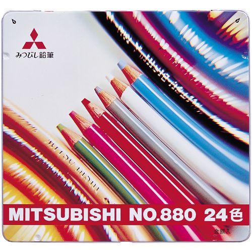 三菱鉛筆 色鉛筆880 24色セット   K88024CP