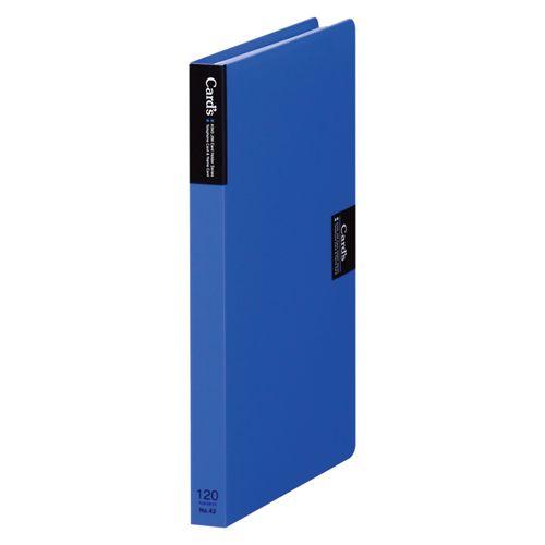 キングジム カードホルダー「カーズ」(溶着式) 青  42