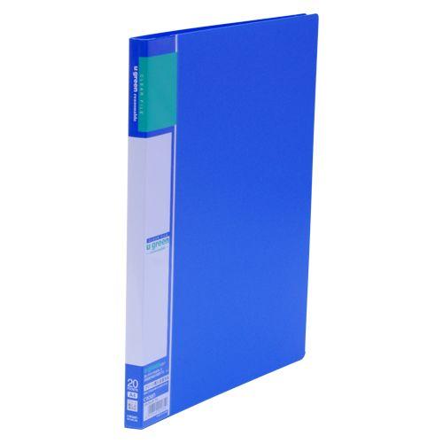クラウン クリヤーファイルA4リーズナブル20P 青  CR-CFL20-BL