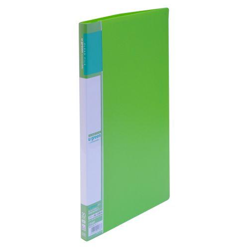 クラウン クリヤーファイルA4リーズナブル20P 緑  CR-CFL20-G