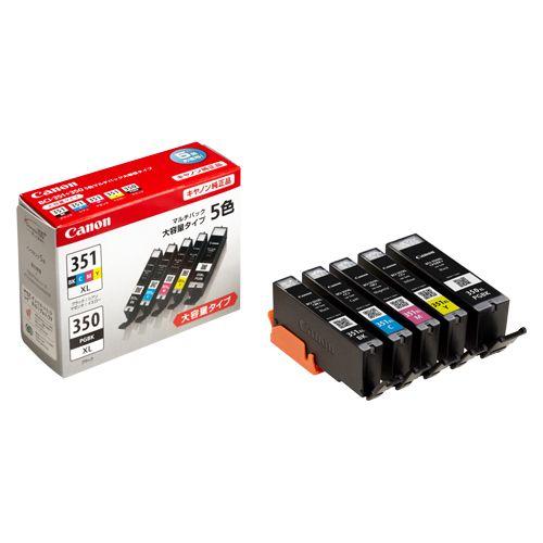 インクタンク5色マルチP【大容量タイプ】 5色マルチパック  BCI-351XL+350XL/5MP
