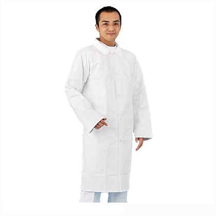 アゼアス デュポン(TM) タイベック(R)製 白衣  3L 4250-3L