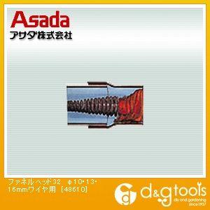 ファネルヘッド32 φ10・13・16mmワイヤ用 (48610)