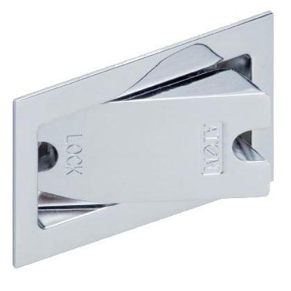 アウトセット引戸錠 個室錠 クローム (OS-B0 070007)