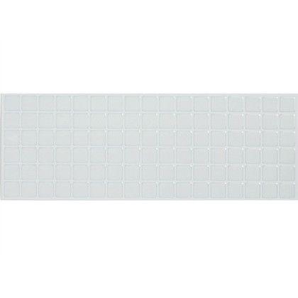 モザイクタイルシール ホワイト 約縦13.4×横37.6×厚み0.12(cm) MT-007