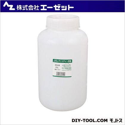 PE広口丸形標準規格容器 3L (B307)