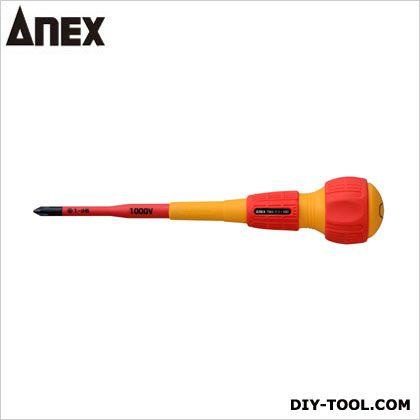 アネックス スリム絶縁ドライバー  +1x100 7900   絶縁ドライバー 絶縁工具