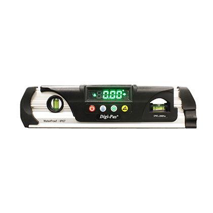 防水型デジタル水平器 シルバー×ブラック 230mm DWL-280Pro