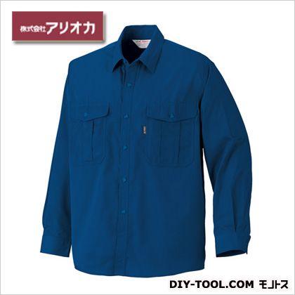 作業着(作業服) 長袖シャツ 春夏用 ネイビー M 772