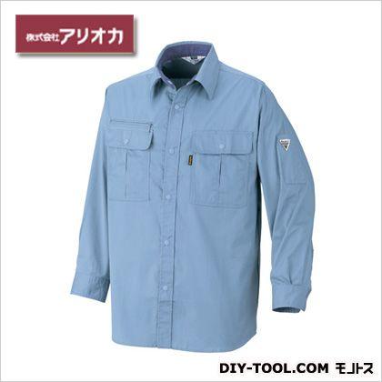 作業着(作業服) 長袖シャツ 春夏用 サックス M 882