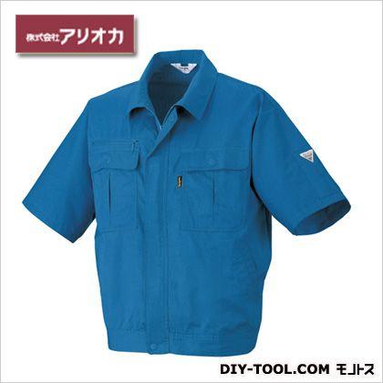 作業着(作業服) 半袖ジャンパー 春夏用 ブルー M (884)