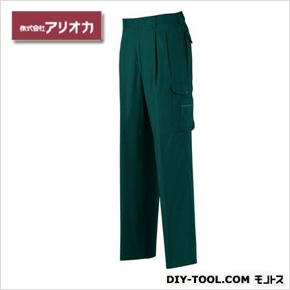 作業着(作業服) ツータックカーゴパンツ 春夏用 ダークグリーン M (886)