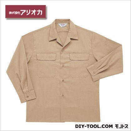 長袖開襟シャツ ベージュ M (A28000)