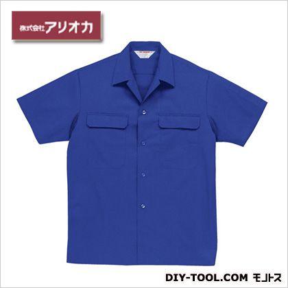 半袖開襟シャツ ブルー M A4700H