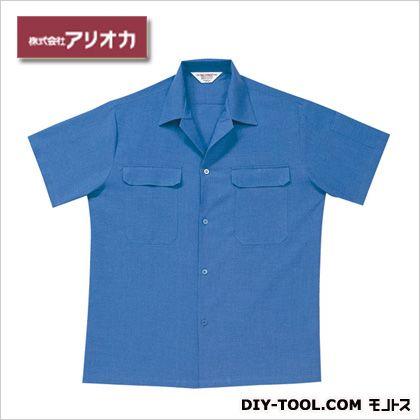 半袖開襟シャツ ブルー M A9700