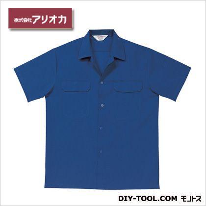 半袖開襟シャツ ネイビー M (A9700)