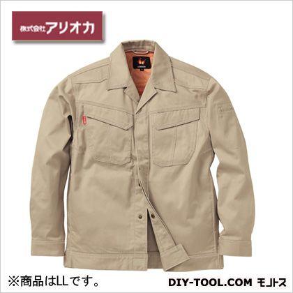 溶接・ 造船 作業着(作業服) 防炎ジャンパー ベージュ LL MD2000