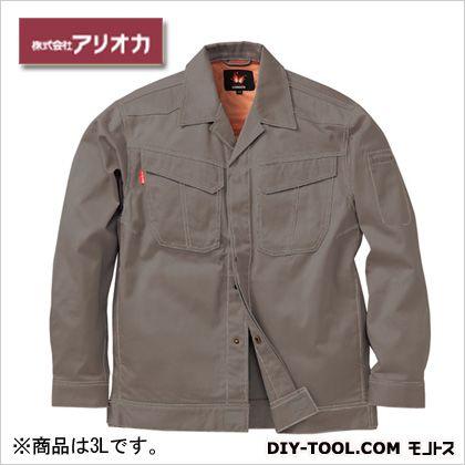 溶接・ 造船 作業着(作業服) 防炎ジャンパー グレー 3L MD2000