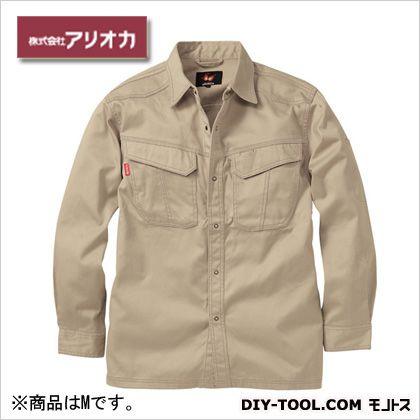 溶接・ 造船 作業着(作業服) 防炎長袖シャツ ベージュ M MD2020
