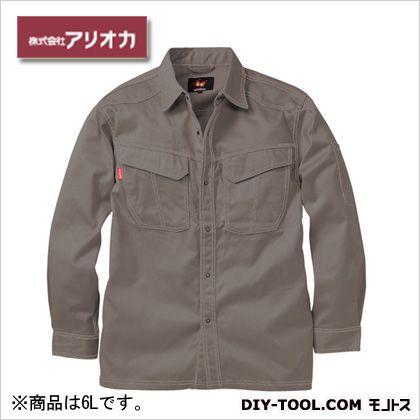溶接・ 造船 作業着(作業服) 防炎長袖シャツ グレー 6L (MD2020)