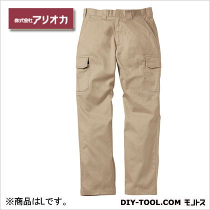 溶接・ 造船 作業着(作業服) 防炎カーゴパンツ ベージュ L (MD2060)