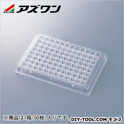 96ウェルマイクロプレート  85.5×127.3×14.0mm 1-6776-01 1箱(50枚入)