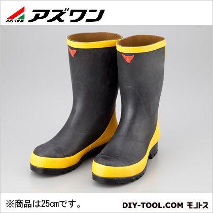 アズワン 静電気帯電防止安全長靴静電長13型 25cm (1-2684-03) 作業靴 安全靴