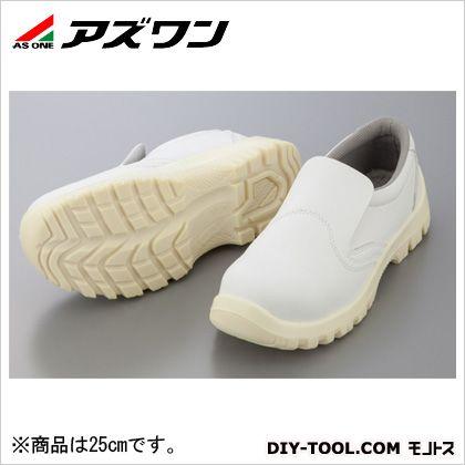アズワン アズピュア静電安全靴  25cm 1-2291-07
