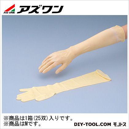天然ラテックスゴムロング手袋 M (8-5311-02) 1箱(25双入)
