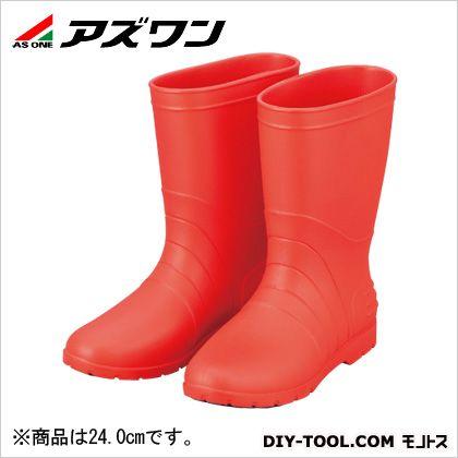 アズワン サニフィット耐油長靴 女性用 赤 24cm 2-3812-02   耐油・耐薬品用安全靴 安全靴
